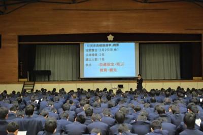 可児高等学校の模擬選挙立候補演説会